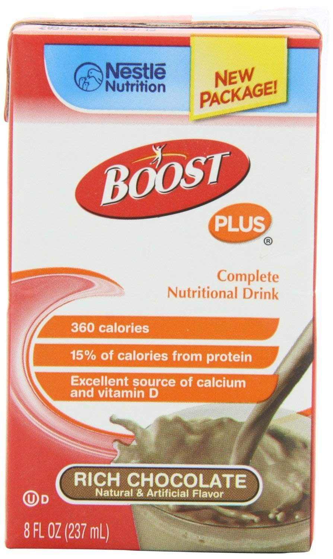 Boost Plus Rich Chocolate 8oz Brikpaks 27/Case