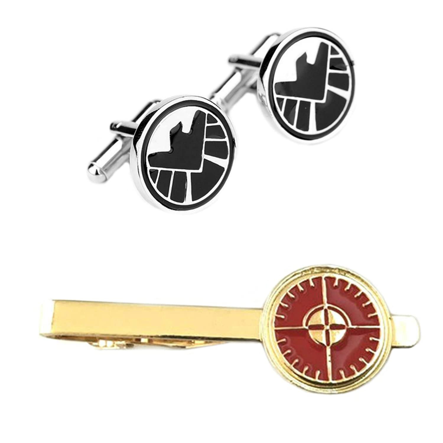 Outlander SHIELD Cufflink & Hawkeye Tiebar - New 2018 Marvel