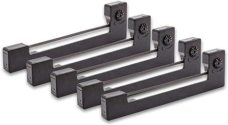 Epson C43S015354 vhbw 5x Farbband Nylonband Tintenband f/ür Nadeldrucker Melag MELAprint 40 MELAprint 42 wie Epson ERC-09 ERC-09B.