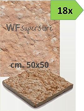 Suelo exterior de piedra rústico 50 x 50 - 12 baldosas ...