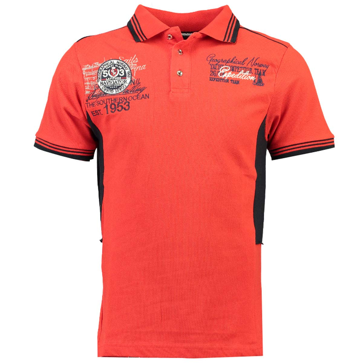 Geographic Norway Kling SS Hombres Polo Camisa, SR035H/GN, Rojo ...