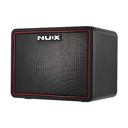 NUX Mighty Lite Amplificador de Guitarra Eléctrica de Escritorio BT Mini Amplificador 3W 3 Canales Efectos