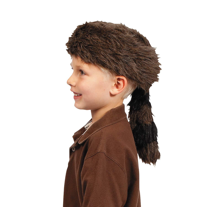 Fun Express - Coonskin Hat - Apparel Accessories - Hats - Novelty Piece Hats - 1 Piece