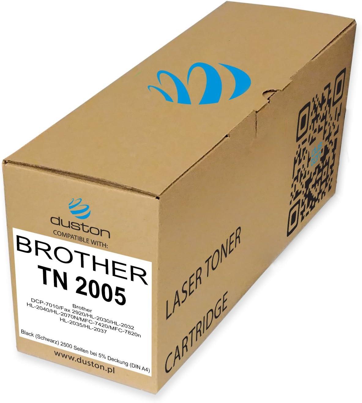 Tn2005 Tn2000 Schwarz Duston Toner Kompatibel Zu Brother Tn 2005 Dcp 7010 Fax 2920 Hl 2030 Hl 2032 Hl 2040 Hl 2070n Mfc 7420 Mfc 7820n Hl 2035 Hl 2037 Bürobedarf Schreibwaren