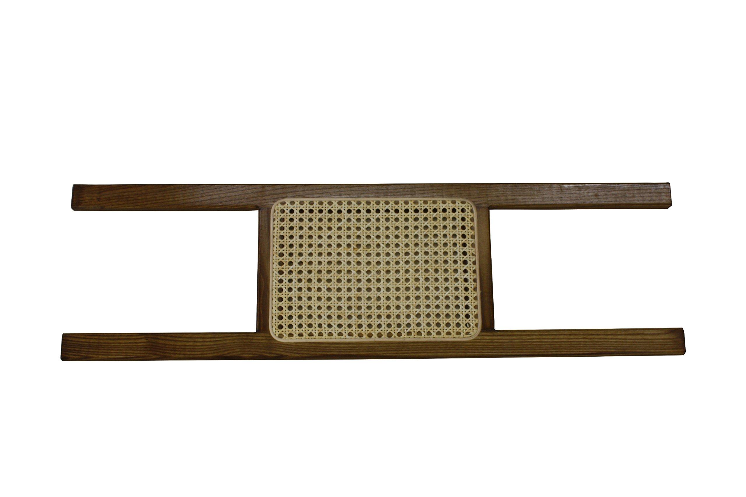 Ash Canoe Seat - Cane - Walnut