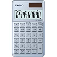 Casio SL-1000SC-BU stylischer Taschenrechner, 10-stellig, in sechs Farbvarianten