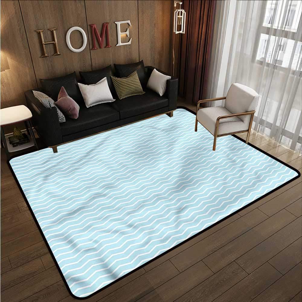 """Mint Green,Floor Mat Entrance Doormat 60\""""x 96\"""" Zigzag Shaped Lines Carpet mat 61K1RHnUoVL"""