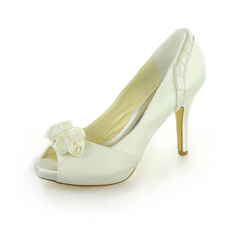 JIA JIA Chaussures B0788KN8QM de Chaussures Mariée Pour Femme 37028 12347 Peep Toe Talon Aiguille Pompes à Plateforme en Satin Strass Chaussures de Mariage Beige 3ce3fdc - latesttechnology.space