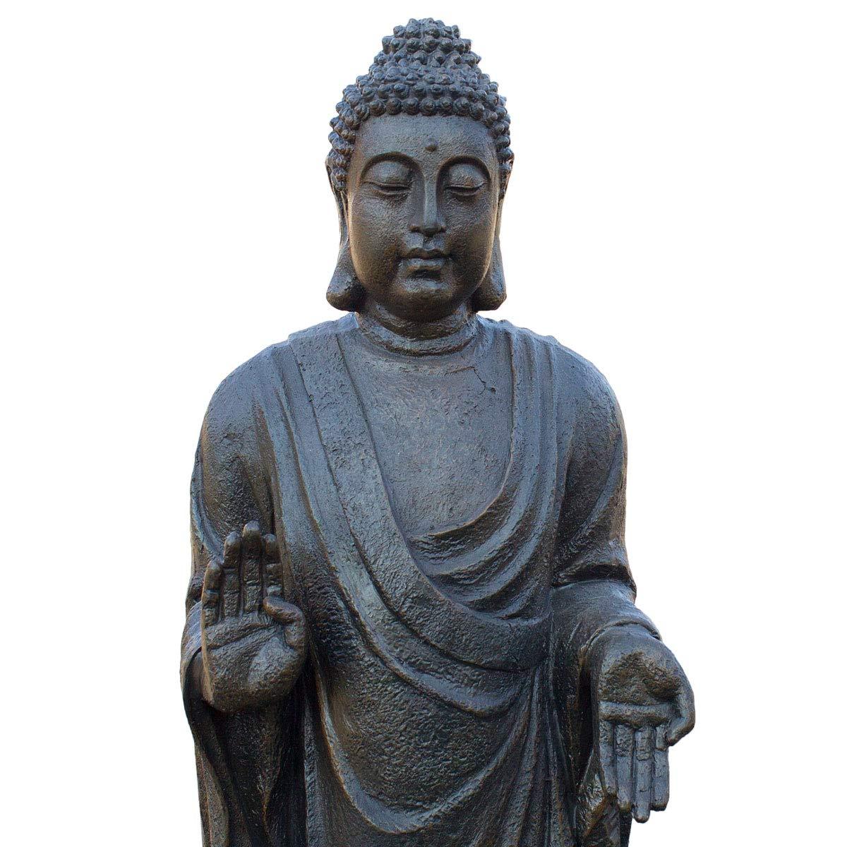 Riesiger Deko Asien Garten BUDDHA Stehend 90CM Figur Statue FENG SHUI NEU
