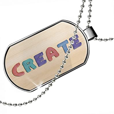 amazon com dogtag create colorful kids clay dog tags necklace