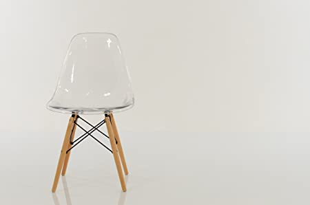 eames replica dining chair dsw clear set of 2 by pavorio amazon co