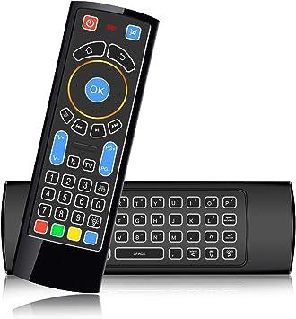 SZILBZ - Mini Teclado inalámbrico Bluetooth CR3, Control Remoto de Aire, Panel táctil con retroiluminación, Ideal para