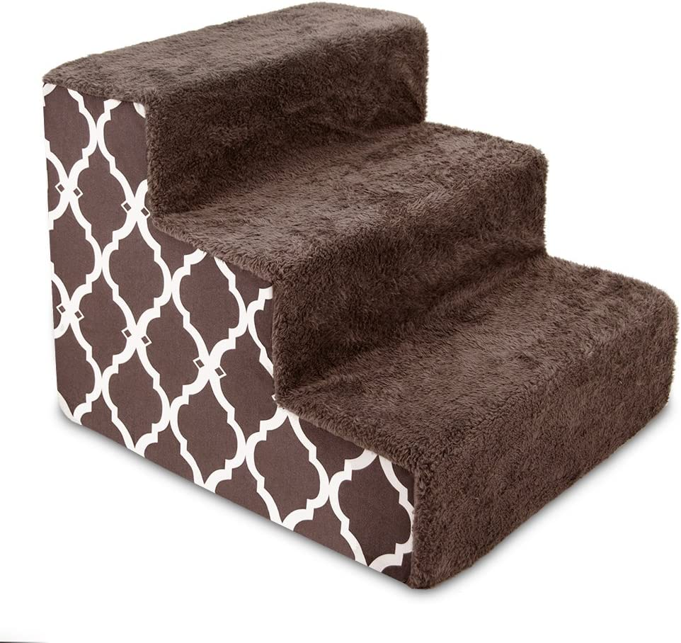 USA Made Pet Steps/Stairs with CertiPUR-US Certified Foam for Dogs & Cats by Best Pet Supplies : Pet Supplies