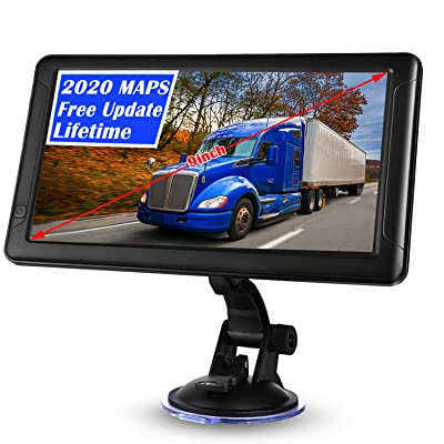 GPS Navigation for Car,9 inch GPS Navigation for Trucks Lorry HGV Caravan,Satnav for Cars with POI Speed Camera Warning,Voice Guidance Lane,Lifetime Map Updates: GPS & Navigation
