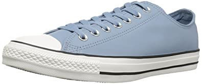 3aabddb842ff Converse Women s Chuck Taylor All Star Tumbled Leather Low Top Sneaker  Washed Denim Washed Denim