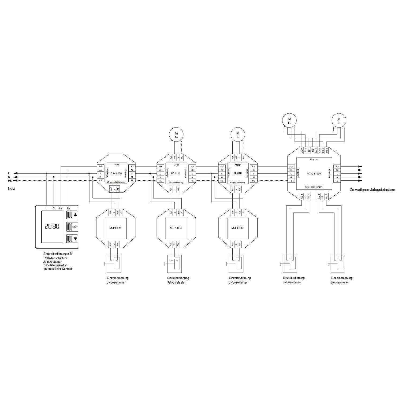 temps/ moteur de volet NOBILY * * * Le pouls de relais M pour un moteur speichert une commande de conduite pour 180/secondes selbsthalte Moteur /Relais de coupure pour volet//store pliss/é Moteur storea ntrieb moteur tubulaire