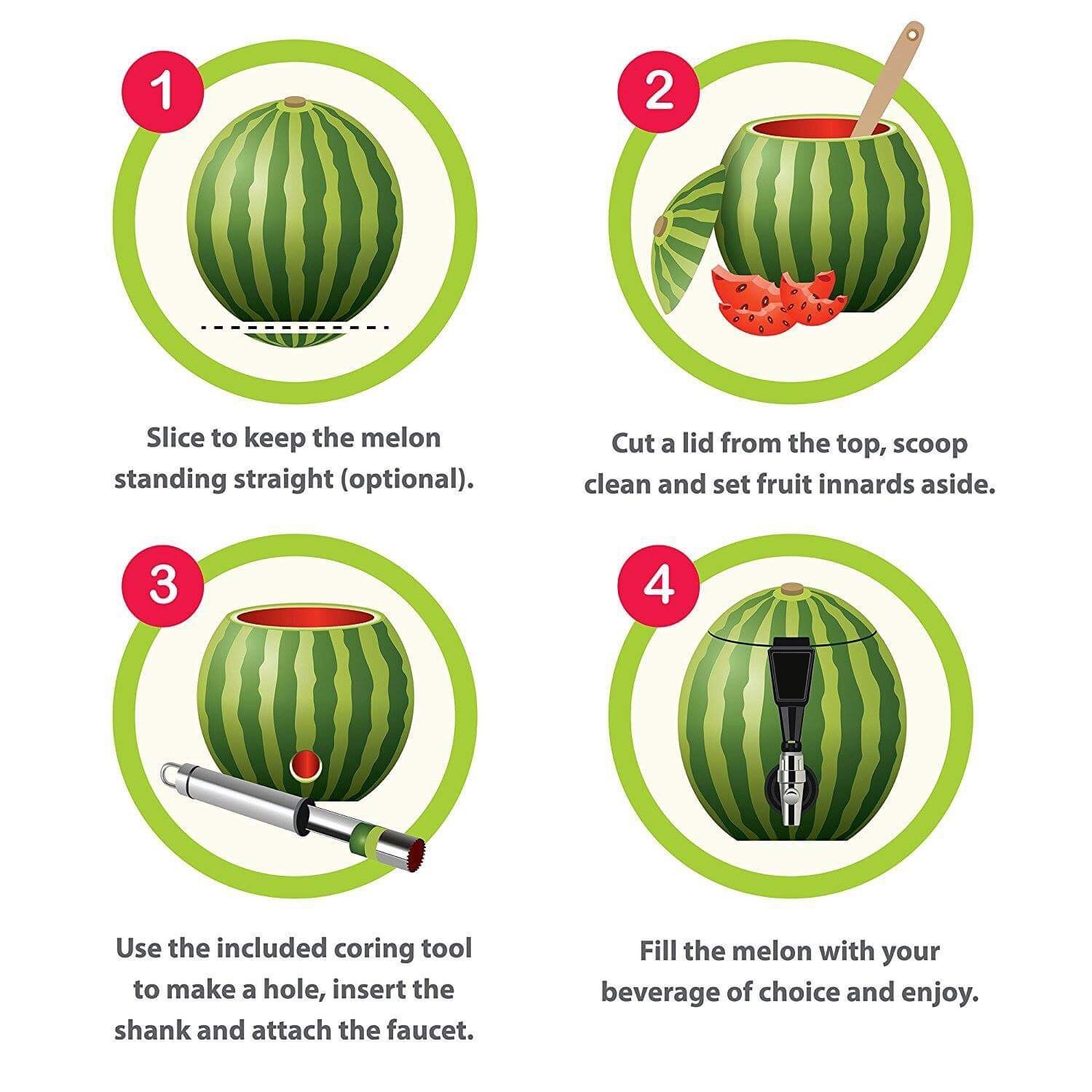 Amazon.com | Watermelon Tap, Combo Kit coring Tool included, Natural ...
