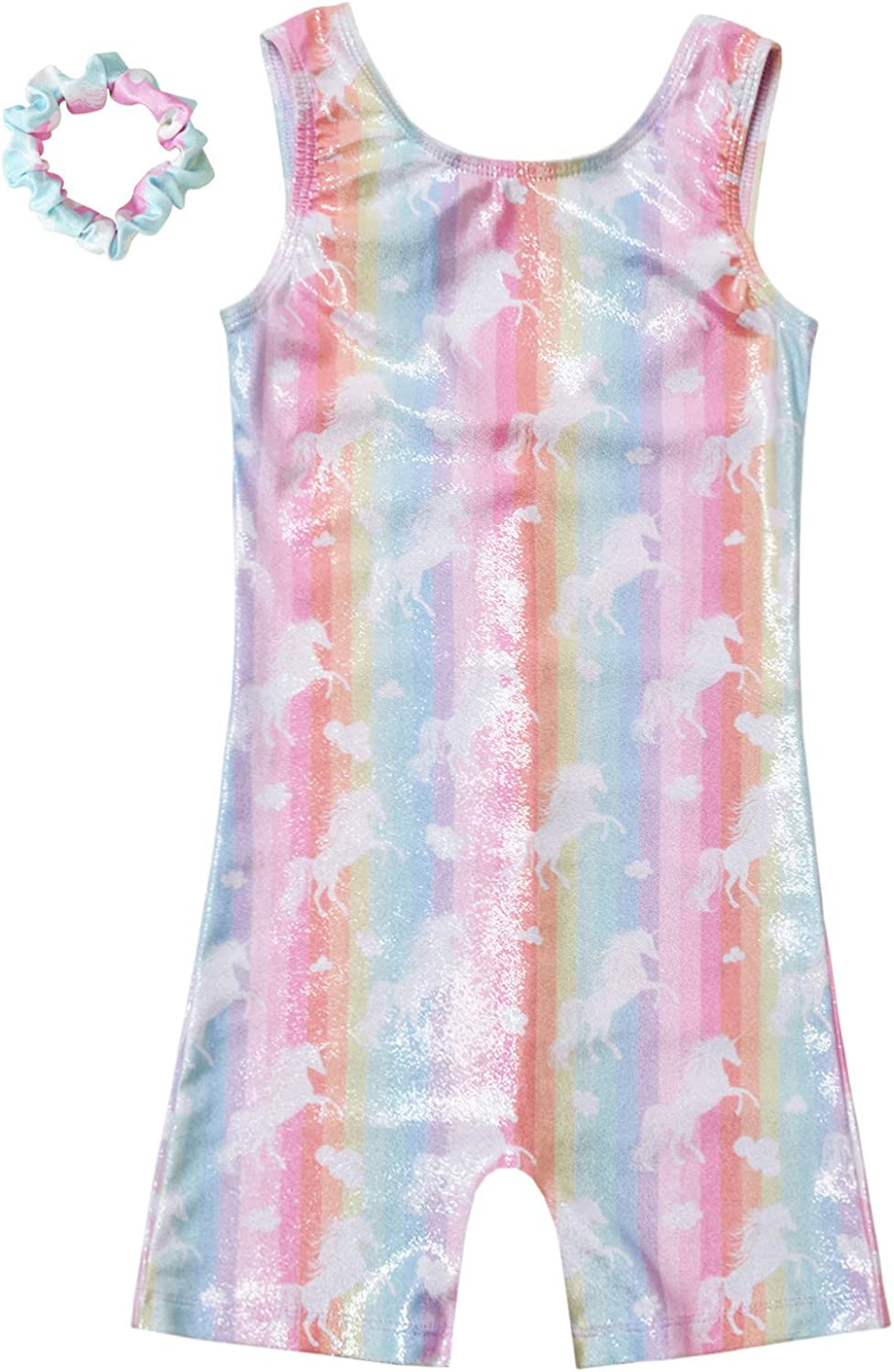 QPANCY Gymnastics Leotards for Girls Sparkly Unicorn Outfits Activewear Quick Dry