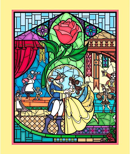 Amazon Com Disney Beauty And The Beast Panel Belle Fabric By The Panel