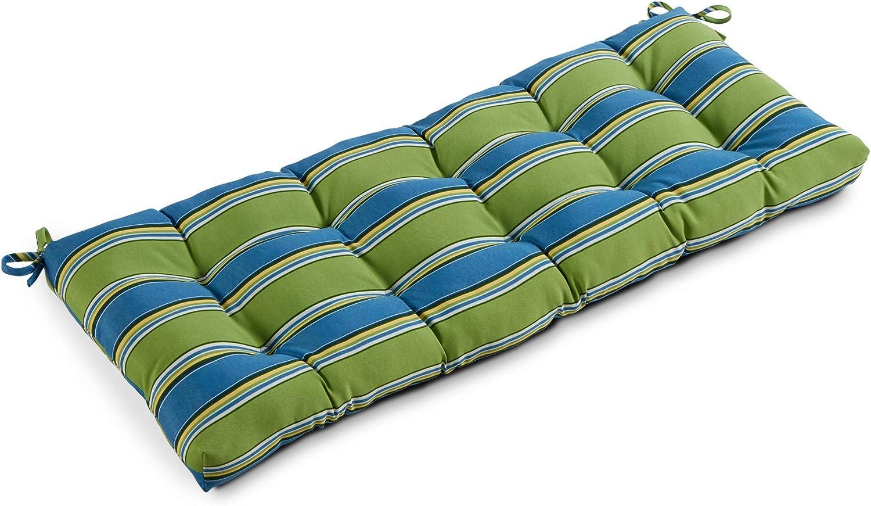 South Pine Porch AM5812-Cayman Cayman Stripe 51-inch Outdoor Bench Cushion