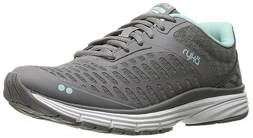 Zapatillas RYKA Elita Cross-Trainer para mujer, gris / plateado, 6.5 W US