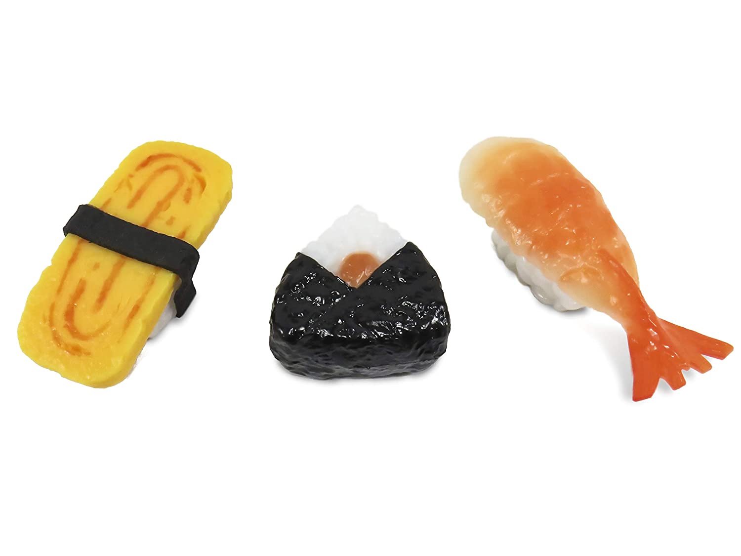 Fun Sushi Magnets Refrigerator Filing Cabinet Whiteboard (Set of 3)