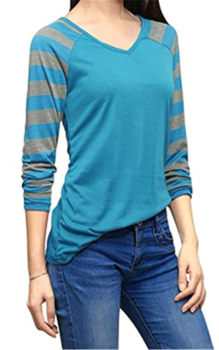 Kerlana Mujer A Rayas Camiseta Blusa Mangas Largas Casual Elegante Clasicos Blouses T Shirt