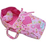 """Baby Whitney Pink Heart Doll Carry Bed with Pillow, 15"""""""