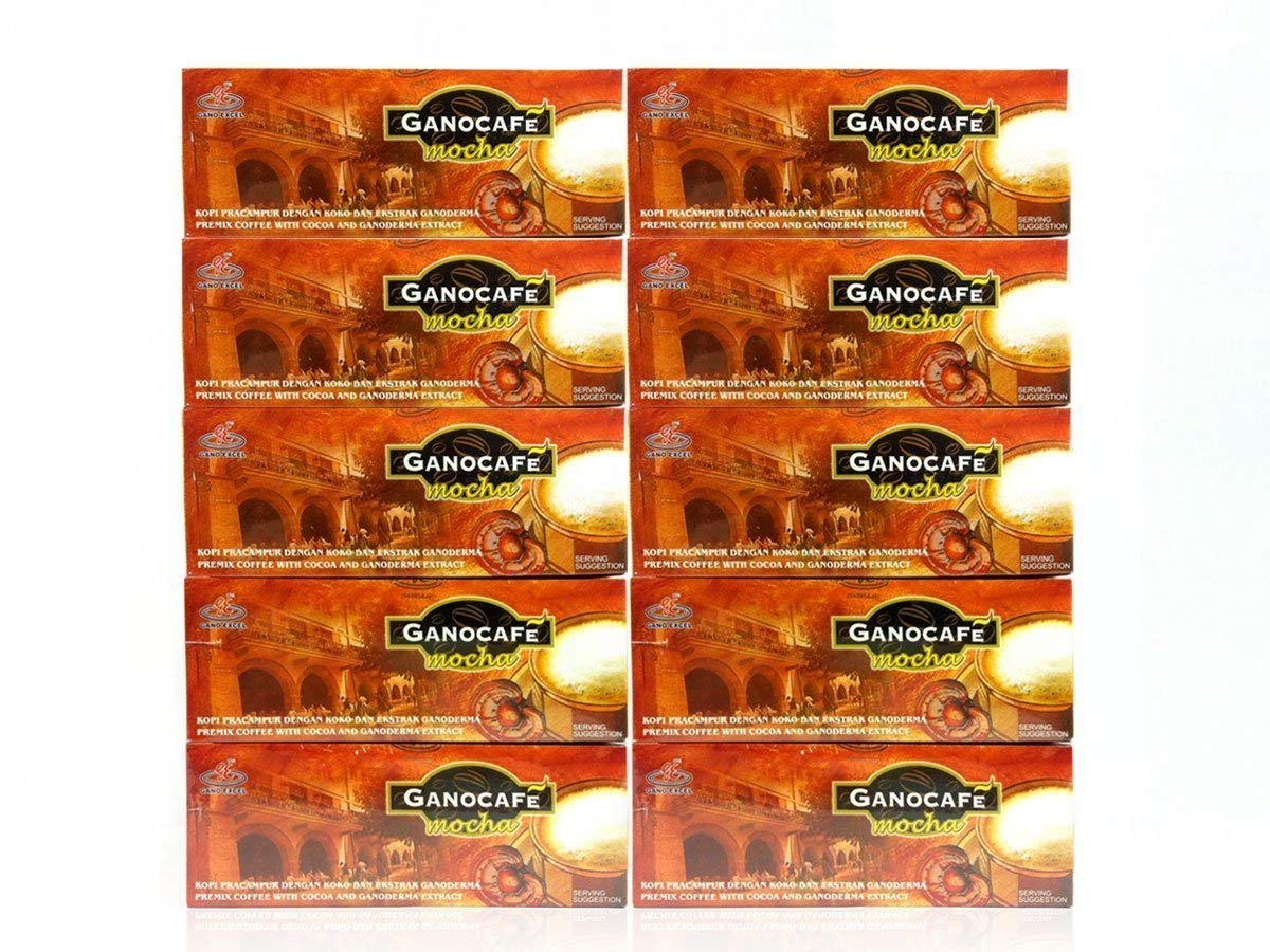 10 Boxes Gano Cafe Mocha Coffee Ganoderma Lucidum Extract + FREE Expedited Shipping to USA by EcBuy