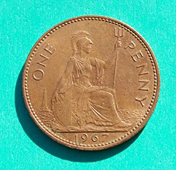 One penny coin 1967 value - UK penny coin values - 1801 to 1967 Can