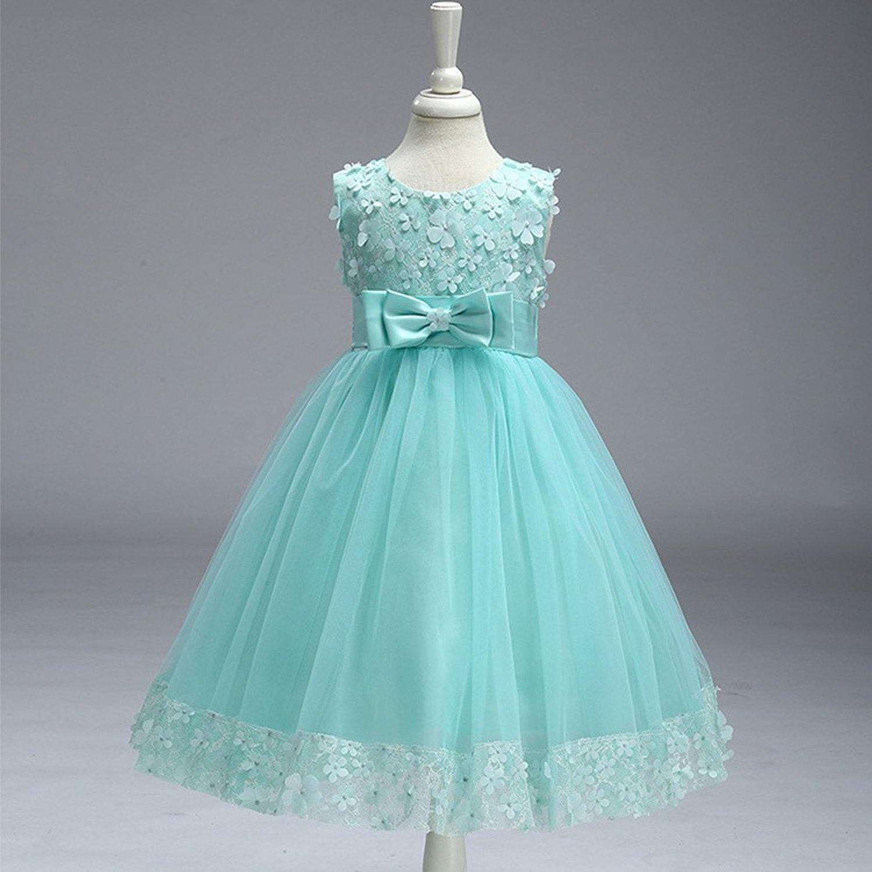 be566348ef8aae Mädchen Kinder Mit Kleider Blumenmädchenkleider Hochzeitskleid ...