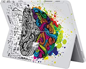 "MasiBloom Protective Decal Sticker for 10 inch Microsoft Surface Go 2 Tablet (2020 2018 Released) Anti Scratch Vinyl Laptop Cover Skin (for 10"" Surface Go, Brain- Multicolor)"