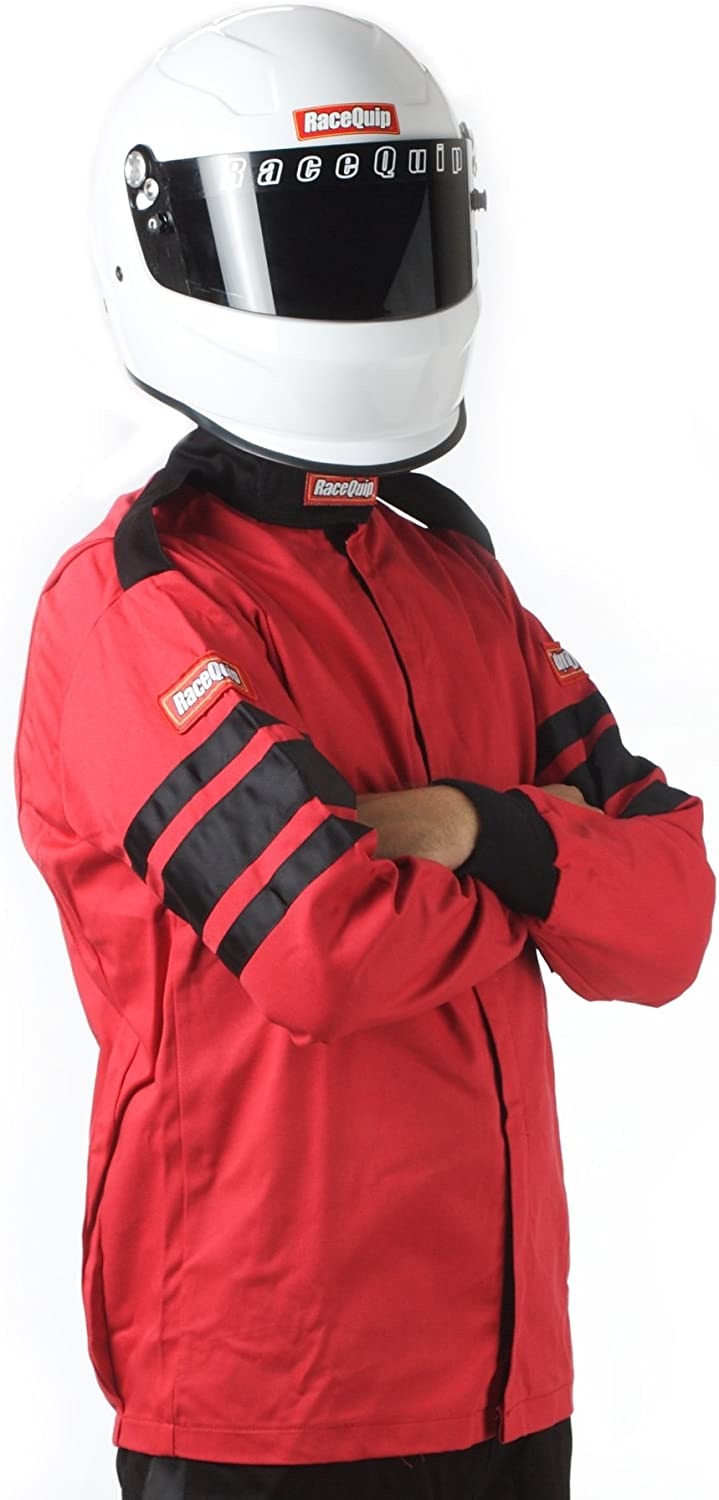 RaceQuip 111015 111 Series Large Red SFI 3.2A/1 Single Layer Driving Jacket