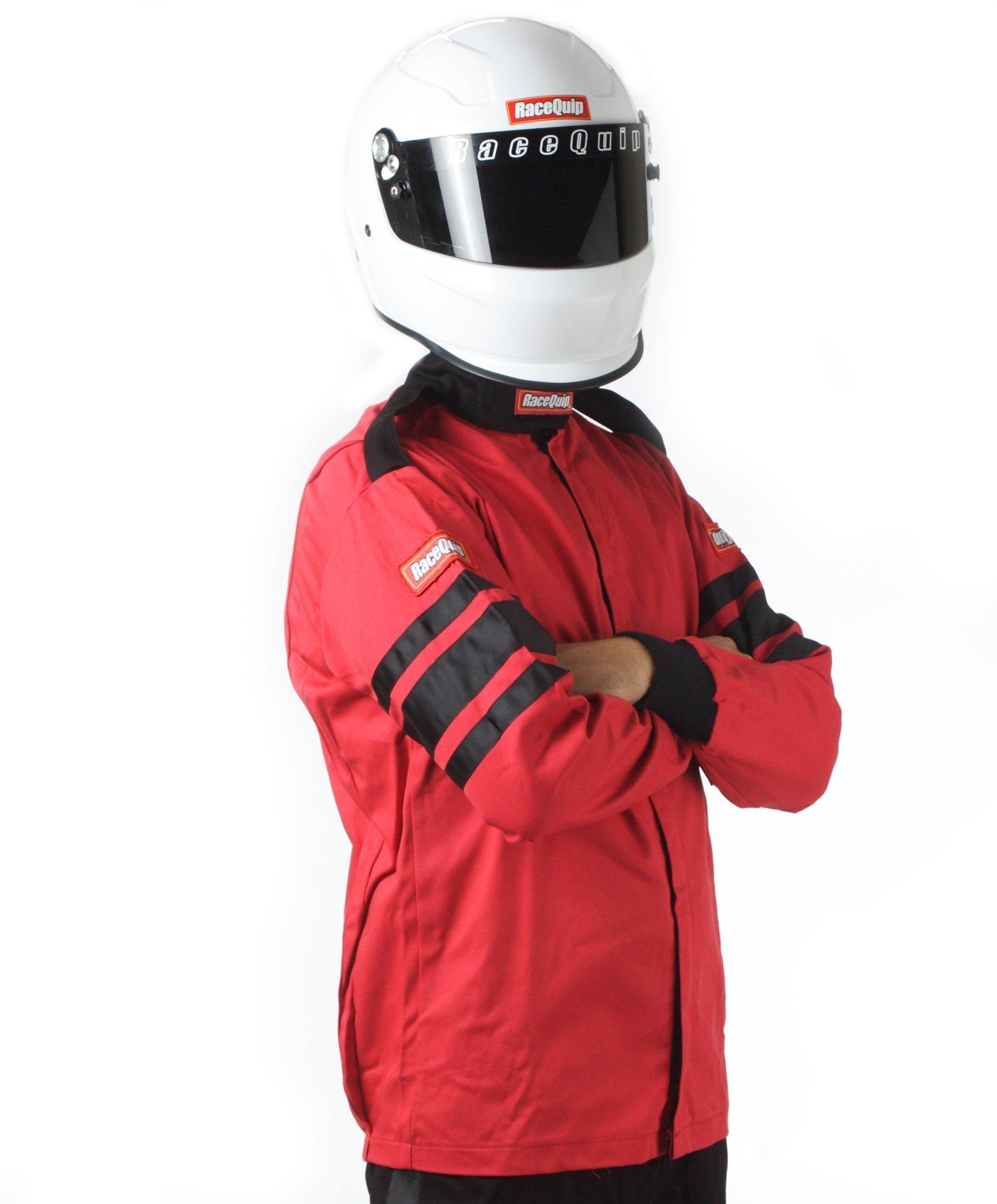 RaceQuip 111013 111 Series Medium Red SFI 3.2A/1 Single Layer Driving Jacket