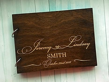 cf4acd71c8f20 Rustic Engraved Personalised Alternative Wedding Guest Book Wood Guestbook  Names Wooden Guestbook Custom Photo Album 8x12inch