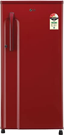 LG 188 L 3 Star Direct Cool Single Door Refrigerator(GL-B191KPRW.APRZEBN, Peppy Red,Smart Inverter Compressor)