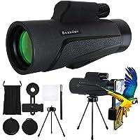 Bossdan 12×50 Monocular Telescope for Smartphone Holder-Portable Handheld Telescope&IPX5 Waterproof Monocular,BAK4 Prism…