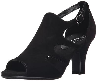 Aerosoles Women's Ginastics Dress Sandal, Black Suede, ...