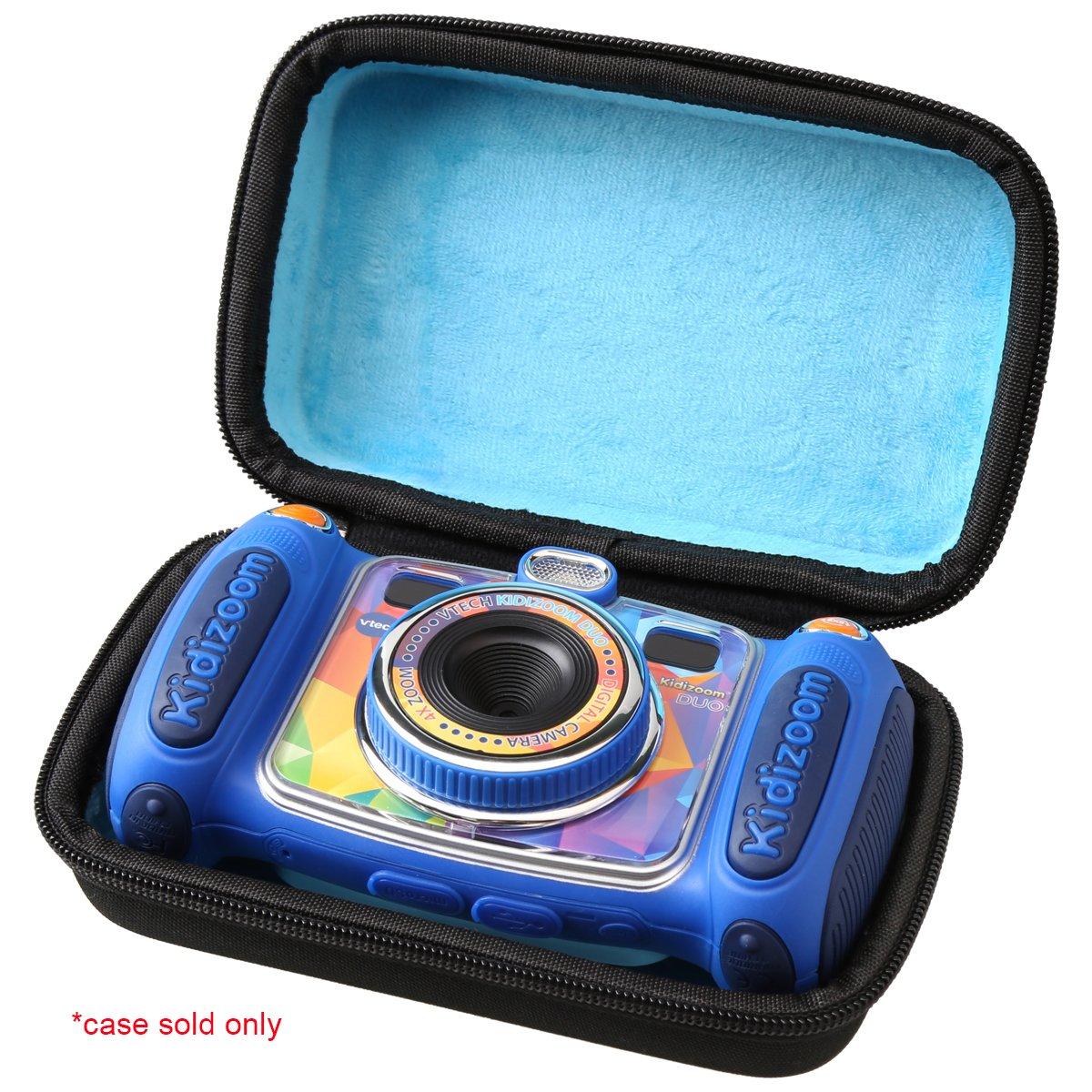 Aproca Hard Carrying Travel Case for VTech Kidizoom Camera Pix / VTech Kidizoom Duo by (black-blue inside)