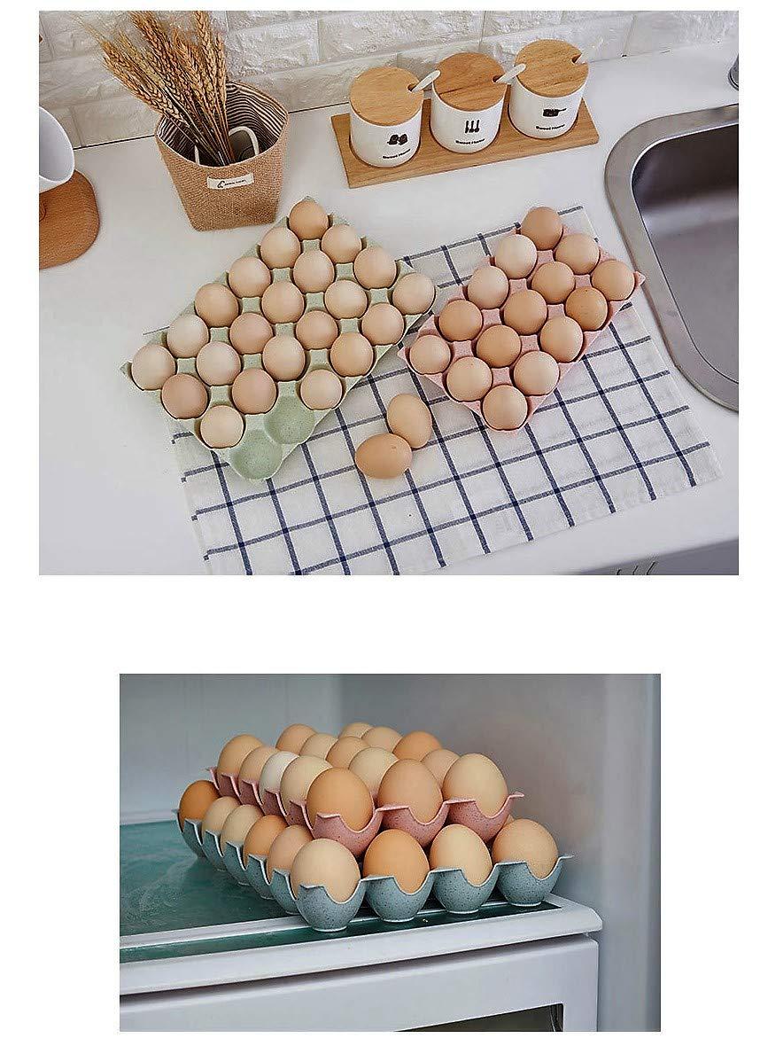 Pink Feel Soon Retail Good Designed Pastel Egg Storage Case 15 Cups 2 pcs
