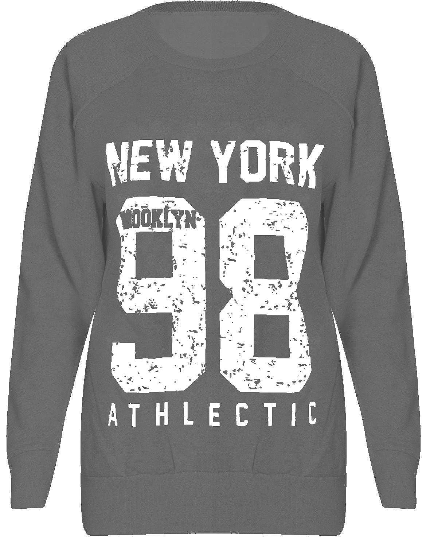New Kids Boys Girls Childrens Fleece New York 98 Brooklyn 76 Sweatshirt Jumper Tracksuit Jacket Top Size 5 6 7 8 9 10 11 12 13 Years
