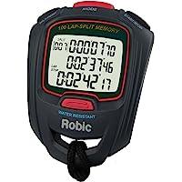 Robic sc-717W 100Doble Memoria cronómetro, Gris y Rojo