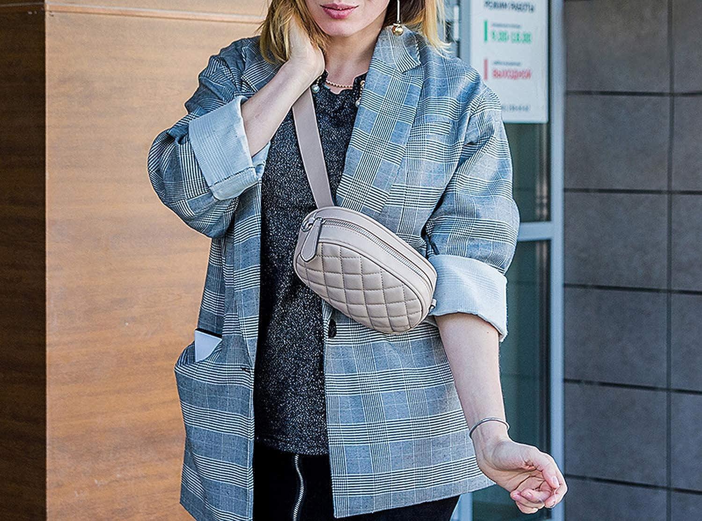 pack women waist packs belt bag female shoulder crossbody bag school bum bag waist mini purse for women PU,Brown,Russian Federation