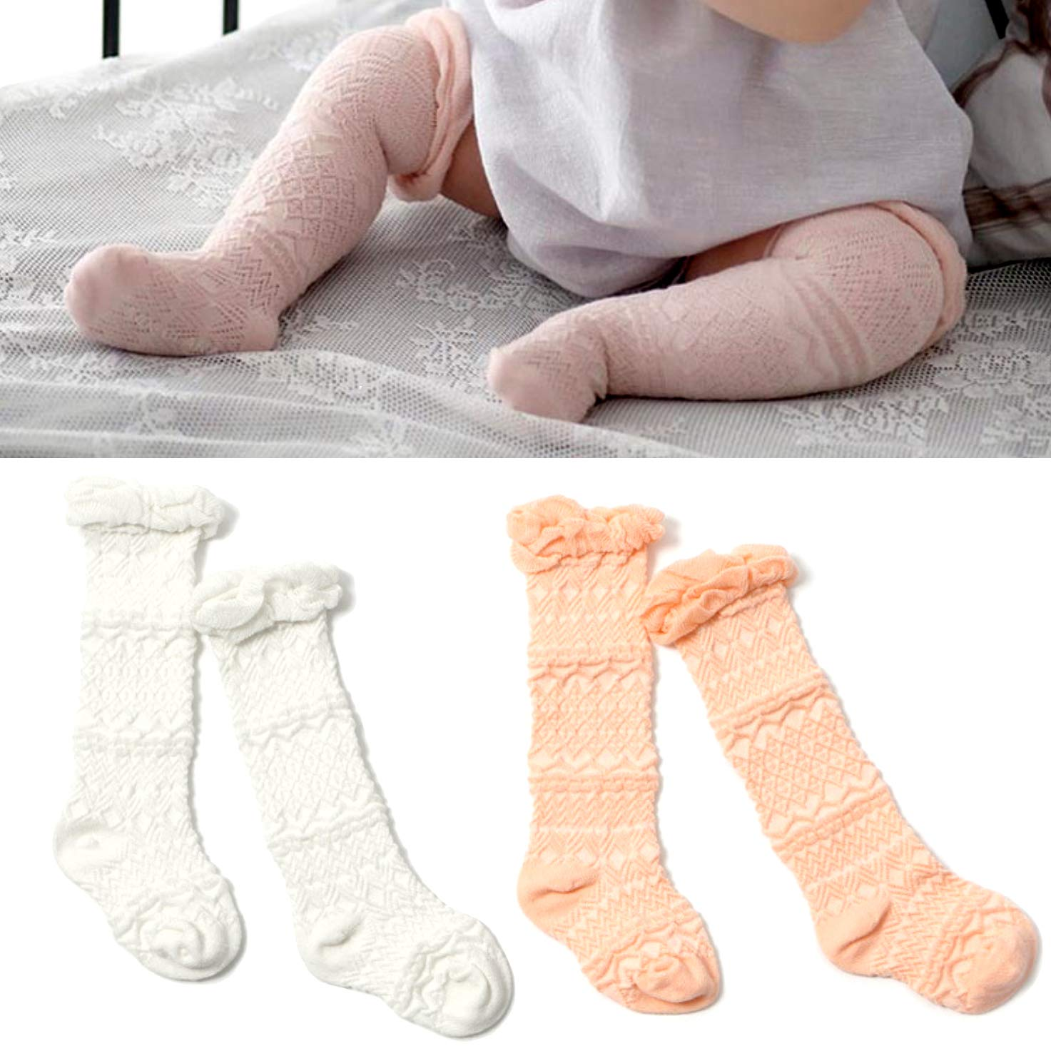 17416714af3c9 Elesa Miracle 2pc Cozy Soft Toddler Baby Leg Warmers Knee High Stocking Baby  Summer Socks Baby