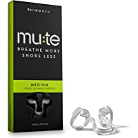 Rhinomed Mute Anti Snoring Aid Solution, Nasal Dilator for Snore Reduction, Breathe Better, Sleep Aid, Comfortable Nose Vent, Medium