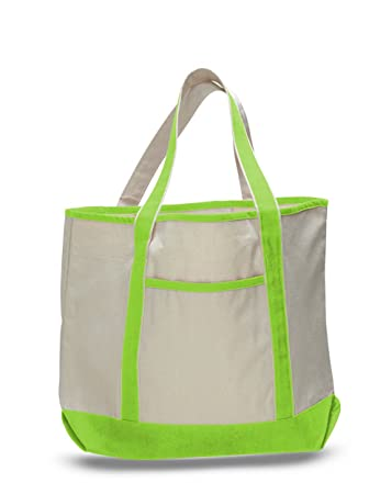 BagzDepot (12 PACK) Heavy Duty Extra Large Canvas Tote Bags 614d7a9e5469