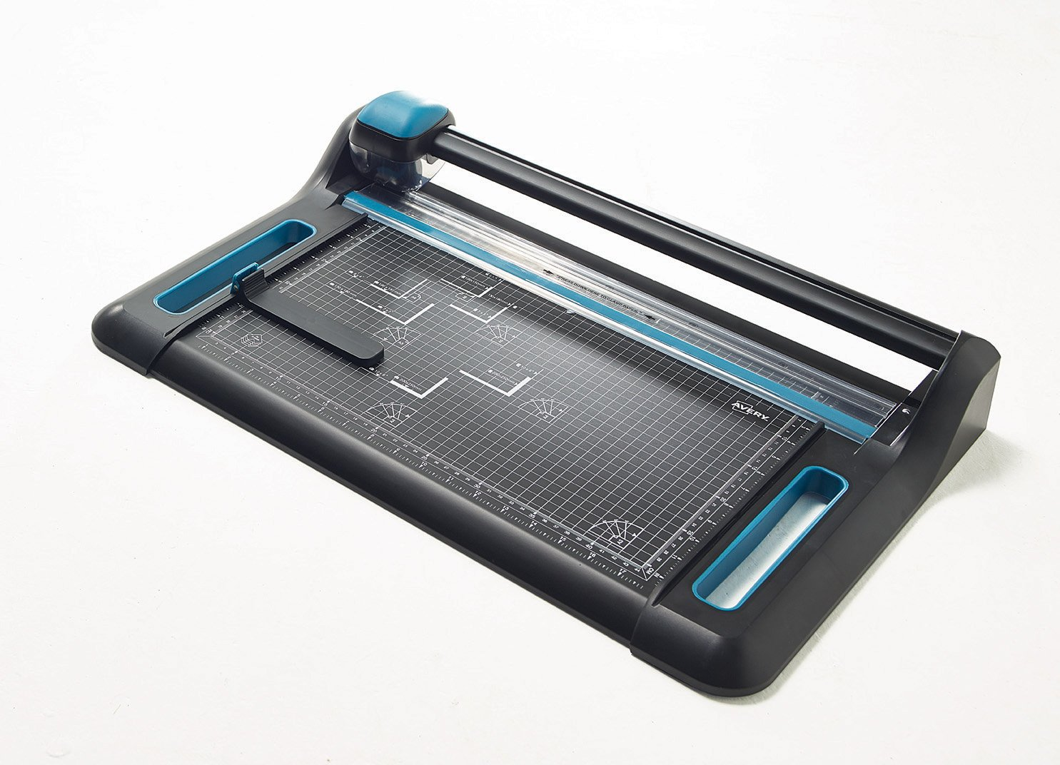 Avery A3 P460 Precision Trimmer Paper Cutter, Black and Teal