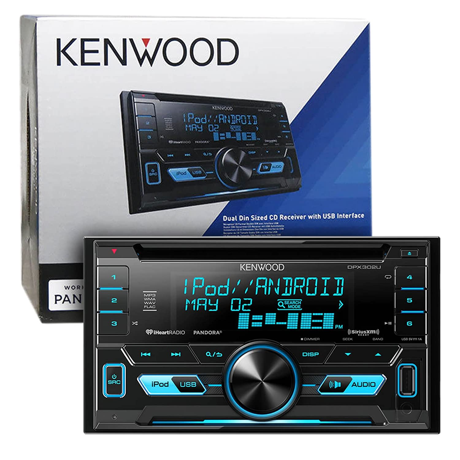 Kenwood Dpx302u Double 2 Din Cd Mp3 Car Stereo Receiver Wiring Harness Adapter Bundle Combo With Metra Installation Kit For Fits Most Gm Vehicles Wire