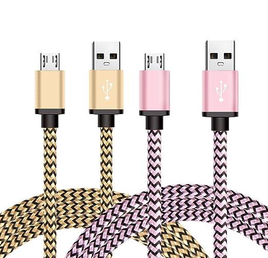 25 opinioni per Micro USB Cavo, BeneStellar [2 Pack] Premium Micro USB Cavo Nylon di Alta