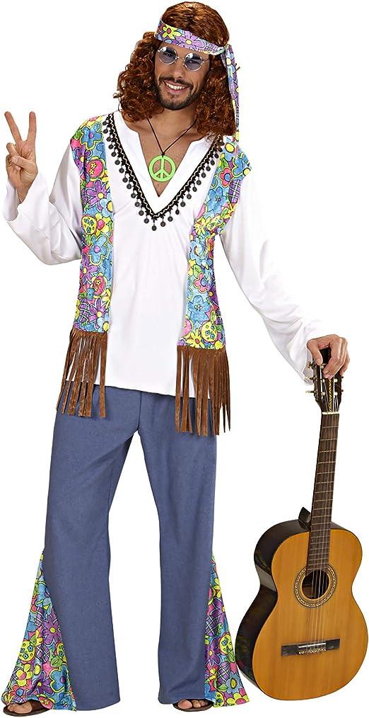 NEW Men/'s Woodstock Hippie 70/'s Seventies 60/'s Retro Fancy Dress Costume